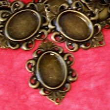 50 peices 30mm Antique Bronze Cameo Base Settings AT51
