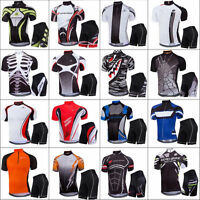 Mens Pro Team Cycling Jersey Set Top & Shorts Kits MTB Quick-Dry Sportswear Suit