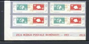 Romania 1963 SG 3060 UPU Congress Air  block of 4 MNH