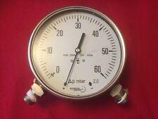 Pressure Gauge Differential Stainless Steel 0-60 MBar