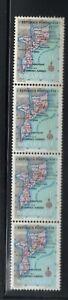 Portuguese Mozambique | 1954 | Map of Mozambique 4 stamp-bloc $10 | MNH OG
