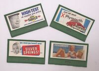 4 Original Vintage Print Promotion Signs Cards for HO - N Scale Model Sets