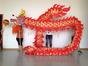New Chinese DRAGON DANCE ORIGINAL Dragon Costume 16m for 12 student