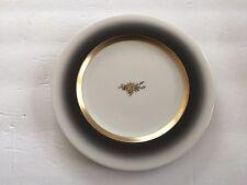 "Crestwood China Fascia Rose Black Border, Gold Ring - 6-3/4"" BREAD PLATE"