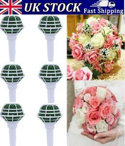 6PCS DIY Bridal Handle Wedding Decorate Flower Decoration Bouquet Foam Holder UK