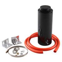 Universal Radiator Coolant Aluminum Catch Tank Overflow Reservoir Black 800ml