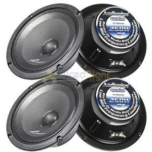 """4 Audiopipe 8"""" 250W Low Mid Frequency Loudspeakers APMB-8SB-D Car Audio 2 Pair"""