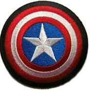 """Captain America 3 1/2"""" Shield Super Hero Avengers Iron On Patch Free Shipping"""
