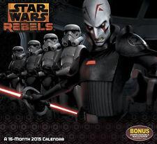 Star Wars Rebels Animated TV Series 16 Month 2015 Wall Calendar Bonus Wallpaper