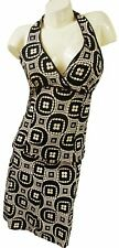 TOPSHOP TWO PIECE BLACK & NUDE OUTFIT, HALTERNECK TOP & SKIRT, SIZE 12,  LD338