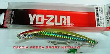 MINNOW LURES YOZURI 110 mm 11 cm 15 gr CRYSTAL S pog f10 ghcr YO ZURI