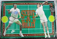 NITF ☆ Vintage ☆ NIKE Poster John McEnroe Serve & Volley ☆ Wimbeldon Grand Slam