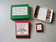 Have a Match? by Robert E Massman 1988 Ltd Edition Miniature Nested In Matchbox!