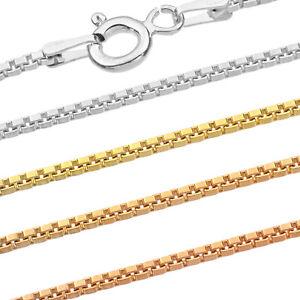 Venetian Chain - 925 Sterling Silver - 0.60-1.50 mm + 16,18,20,22,24,26,28,30 in