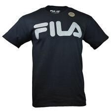 Men's FILA T-shirt - Reflective Logo - Active Athletic Sports Wear - Black