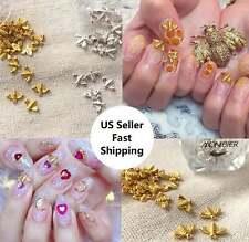 10/20Pcs New Nail Art 3D Gold/Silver Alloy Metal Honey Bee DIY Charms Decoration