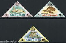 ASCENSION ISLAND  TURTLES  SCOTT#170/72  MINT NEVER HINGED FULL ORIGINAL GUM