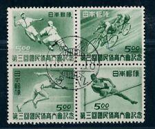 Japan Michel Nummer 423 - 426 gestempelt Zusammendruck