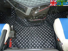 TRUCK ECO LEATHER FLOOR MATS SET FIT VOLVO FH 4 2013+ [ TWIN AIR SEATS ] LEFT HD