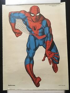 "Amazing Spiderman MMMS CLUB PERSONALITY POSTER 1966 Marvelmania 12"" x 16 1/2"""