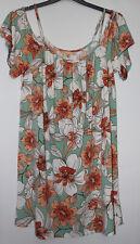 Next Floral Cold Shoulder Tunic Dress Size 12