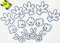 15 Stück Flicken Patch mit Kindermotiven zum Aufbügeln Flicken schwarz weiß
