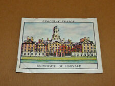 CHROMO #78 HARVARD UNIVERSITY USA CHOCOLAT PUPIER AMERIQUE NORD 1952