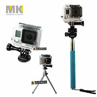 Photography Self Tripod Mount Adapter for GoPro HD Hero3 2 etc replaces GTRA30