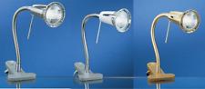 LED Klemmleuchte mit Schalter LED Klemmlampe nickel matt, weiß, messing Eglo