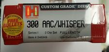Hornady Rifle dies for 300 AAC/Whisper 2 die set, mfg# 546349
