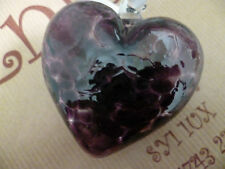 Milford Collection Hanging Glass Friendship Heart Deep Purple Recycled Boxed