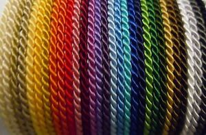 6.5mm Twisted Cord  Soutache Braid 27 COLOURS Braided Rope Piping Cushion Edging