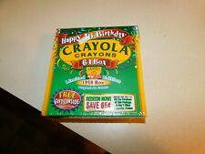 New 1998 Crayola Crayons Happy 40th Birthday 64 Box Limited Edition 1958 Box