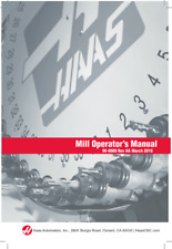 More details for haas 96-8000 mill operator manual rev aa march 2010 reprinted comb bound