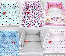 BABYLUX Kinderbettwäsche 3 Tlg. 100x135 cm Bettwäsche Nestchen Bettset Baumwolle