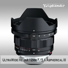 Voigtlander ULTRA WIDE-HELIAR 12mm F5.6 Aspherical III to M mount camera