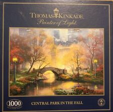 1000 PIECE JIGSAW PUZZLE THOMAS KINKADE CENTRAL PARK IN THE FALL