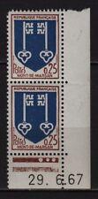 Ah133* x2 Timbres Neuf**MNH 1966 (n°1469 - MONT DE MARSAN) Coin daté