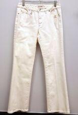 MICHEAL KORS Size 6 White 5 Pocket Denim Boot Cut Jeans Inseam 32