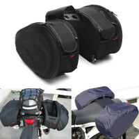 1Pair Saddle Bag Motorcycle Side Helmet Riding Travel Pannier Luggage Rain Cover