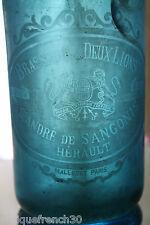 Ancien demi siphon brasserie des deux lions, Hérault, eau de seltz, syphon