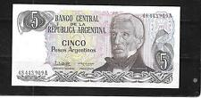 ARGENTINA #312a 1983 UNUSED OLD 5 PESO BANKNOTE PAPER MONEY CURRENCY NOTE