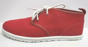 Ugg Australia Size 11 Red Canvas Chukka Ankle Boots New Mens Shoes Light Weight