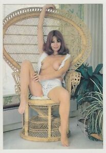 Postcard Pinup Risque Nude Stunning Girl Extremely Rare VINTAGE Post Card 9653