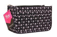 Periea Handbag Organiser Insert 15 Compartments - Sheba - Black Animal Paw Print