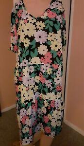 Studio Women's Short sleeve Tiered Shirt Dress, Size 16 - 18, Blu15562