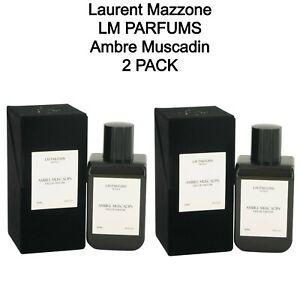 2 PACK - Laurent Mazzone LM Parfums Ambre Muscadin 100 ml. / 3.4 fl oz. Spray
