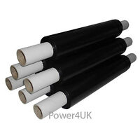 1 2 6 12 24 ROLLS OF STRONG EXTENDED CORE BLACK PALLET STRETCH WRAP 400mm X 250m