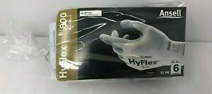 Ansell HyFlex 11-800 Size 6 Multipurpose Industrial Gloves 12 Pr Comfort Fit XS