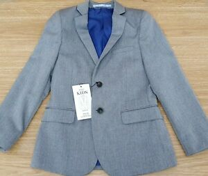 MARKS & SPENCER Boys Grey Blazer Suit Party Jacket Size 6-7 Years MRRP £38-00